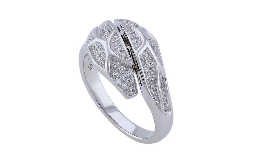 Dragon ring, pave